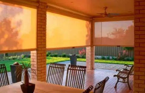 рулонные шторы на даче